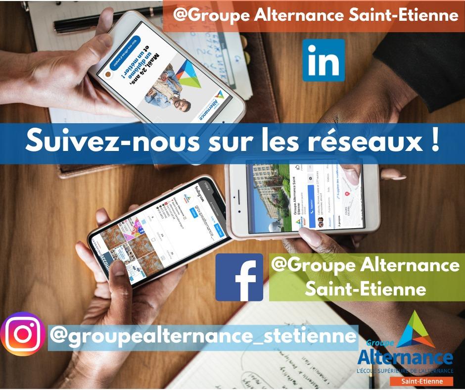 Groupe Alternance Saint-Etienne actualités Facebook Instagram LinkedIn réseaux sociaux