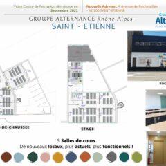 Groupe Alternance Saint-Etienne vous présente ses nouveaux locaux pour la rentrée 2021
